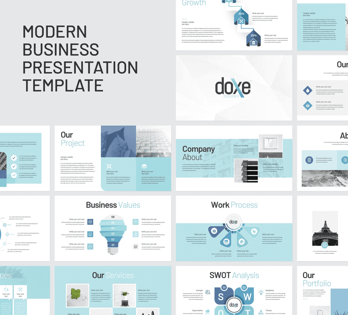 Doxe PowerPoint template