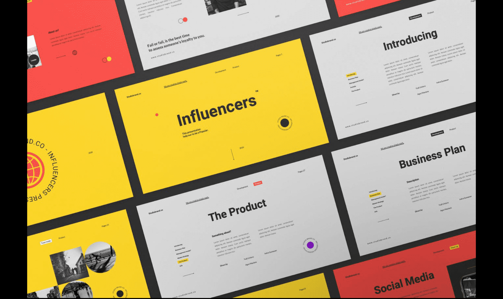 influencers business plan template