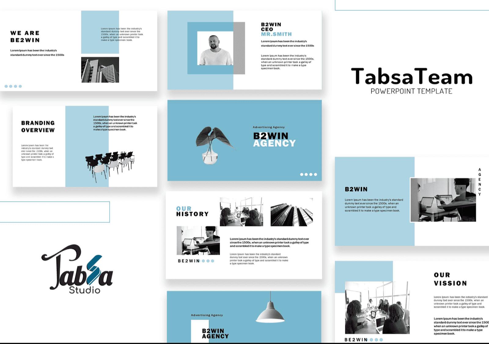 Tabsa PowerPoint template