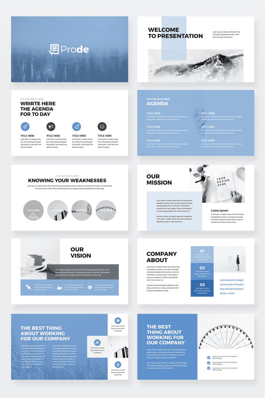 Prode PowerPoint template