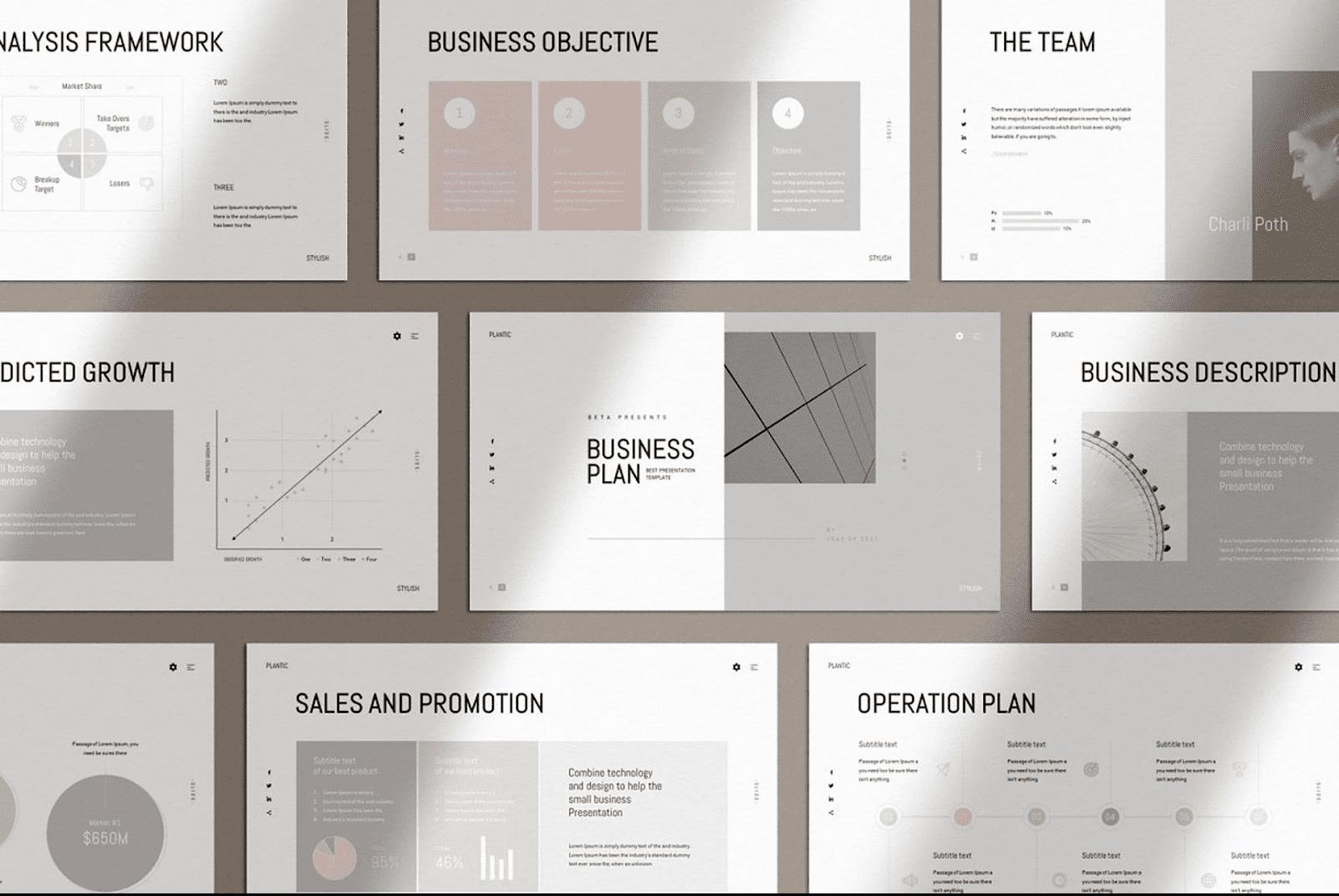 minimalist business plan template