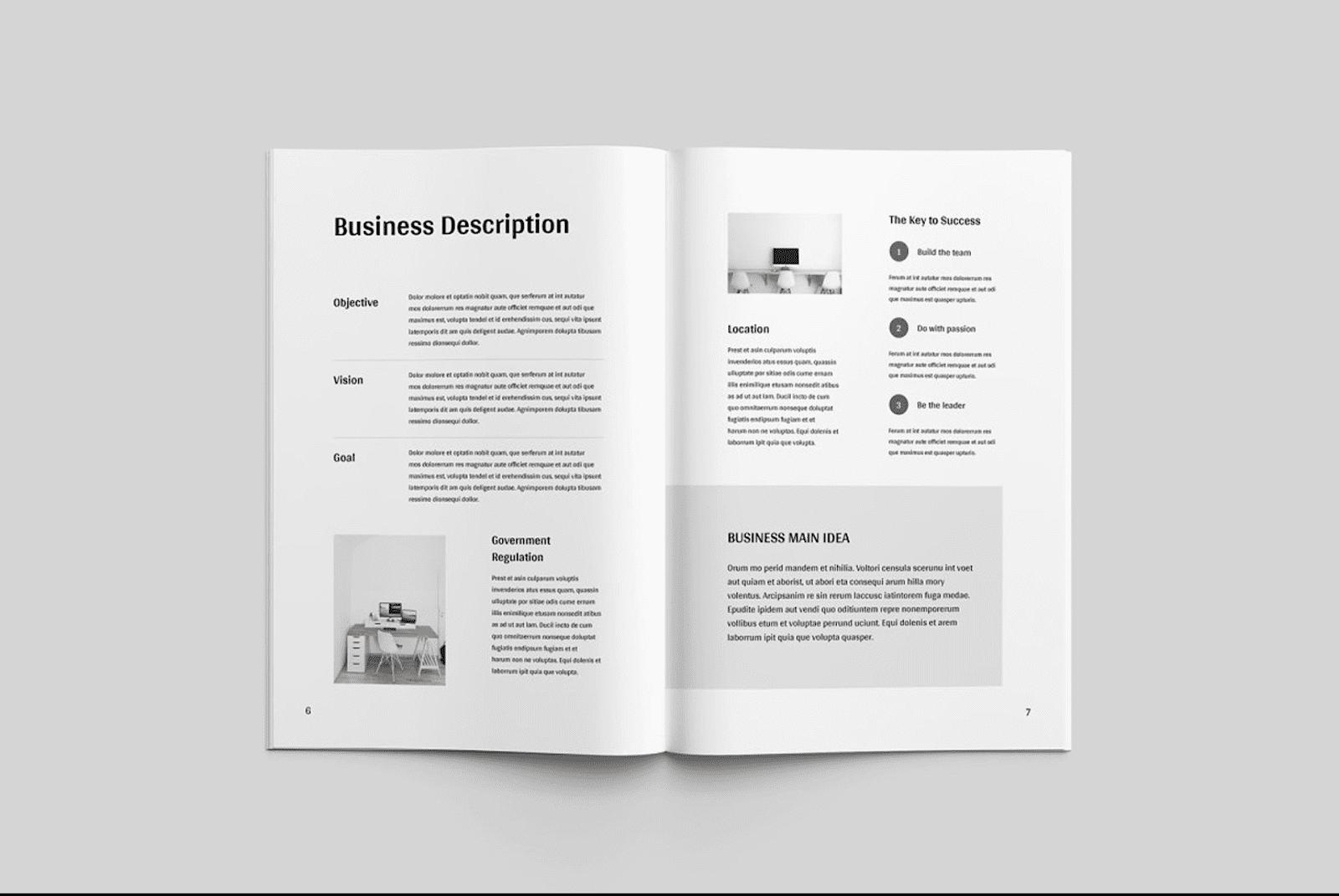 brochure business plan template