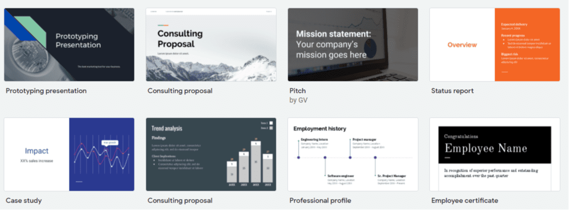 visual templates